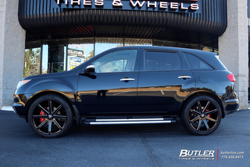 Acura MDX with 22in DUB Push Wheels