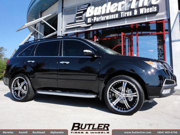 Acura MDX with 22in Lexani LSS5 Wheels