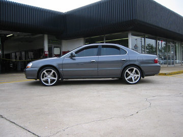 Acura TL with 19in Axis Hagen Wheels