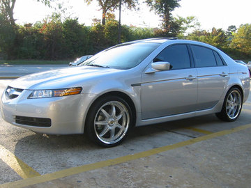 Acura TL with 19in Axis Se7en Mod Wheels
