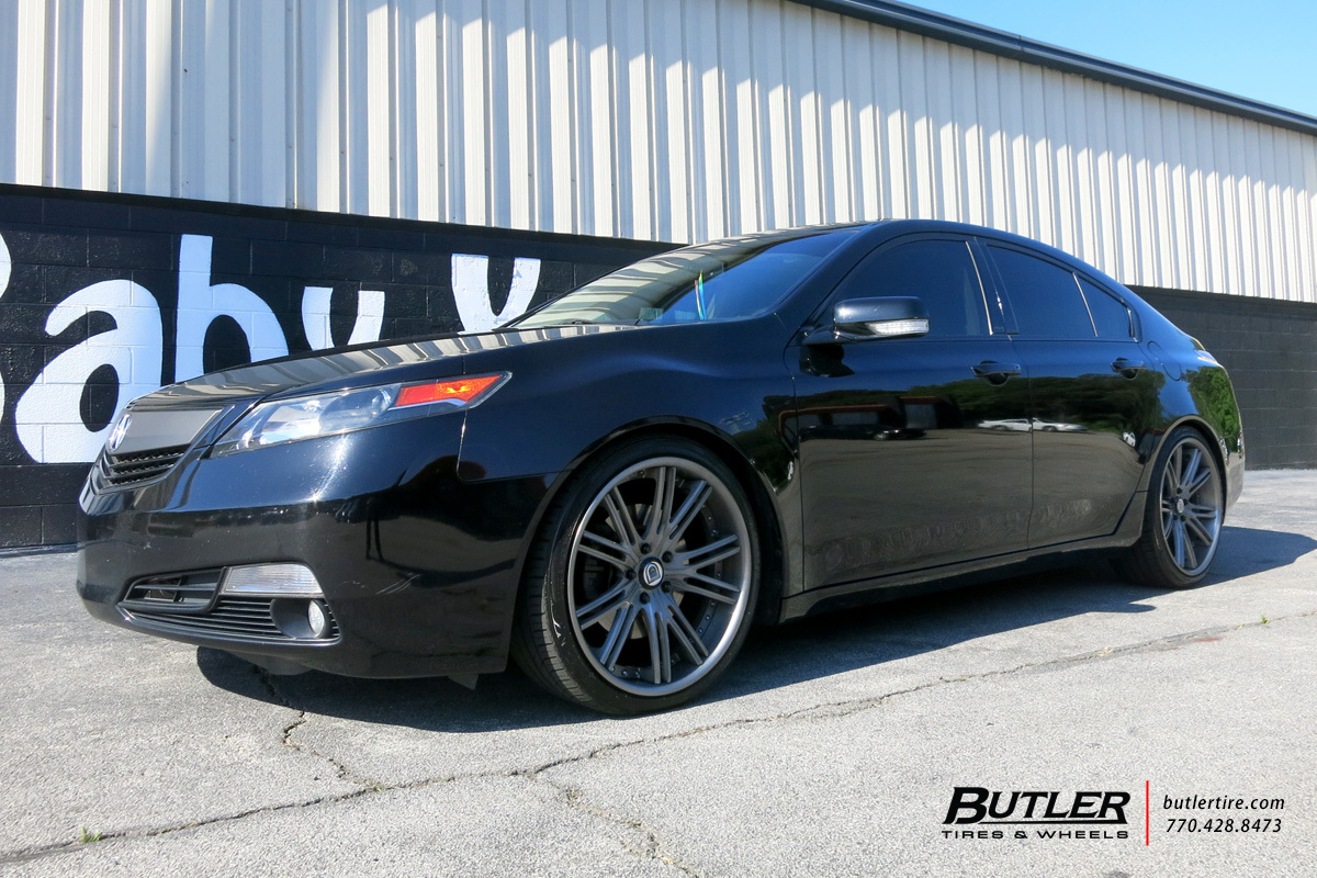Acura TL With In Asanti CX Wheels Exclusively From Butler Tires - Acura tl tires