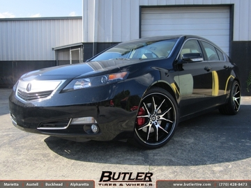 Acura TL with 20in Lexani R-Twelve Wheels