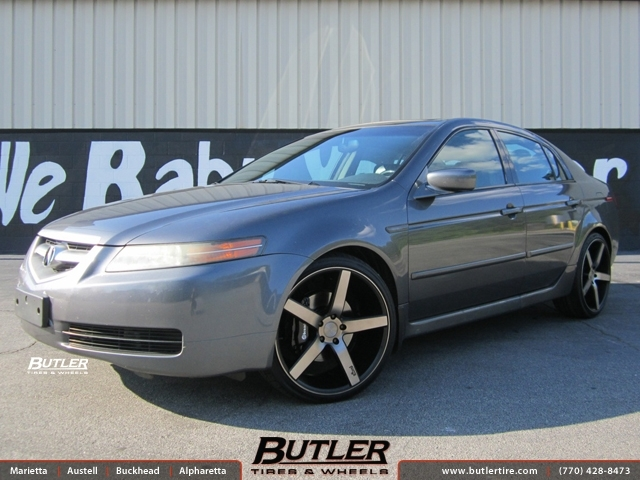 Acura TL with 20in Niche Milan Wheels