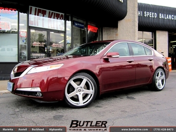 Acura TL with 20in Niche Nurburg Wheels