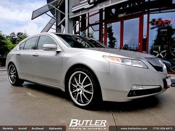 Acura TL with 20in Niche Spa Wheels
