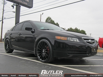 Acura TL with 20in TSW Mallory Wheels