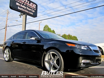 Acura TL with 20in TSW Panorama Wheels