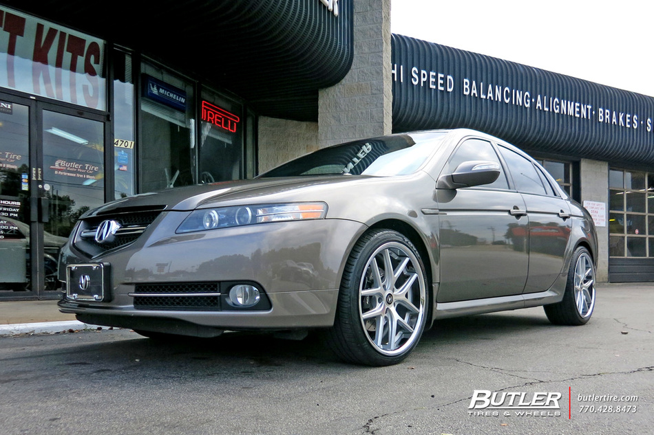 Acura Tl With 20in Tsw Portier Wheels Exclusively From