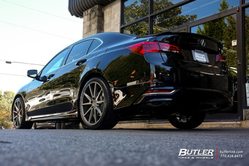 Acura TL with 20in Vossen VFS1 Wheels