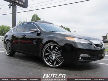 Acura TL with 22in Niche Touring Wheels