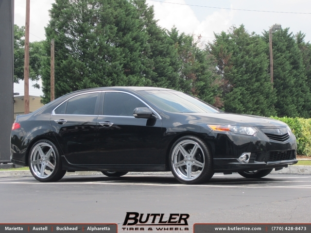Acura TSX with 19in TSW Mirabeau Wheels