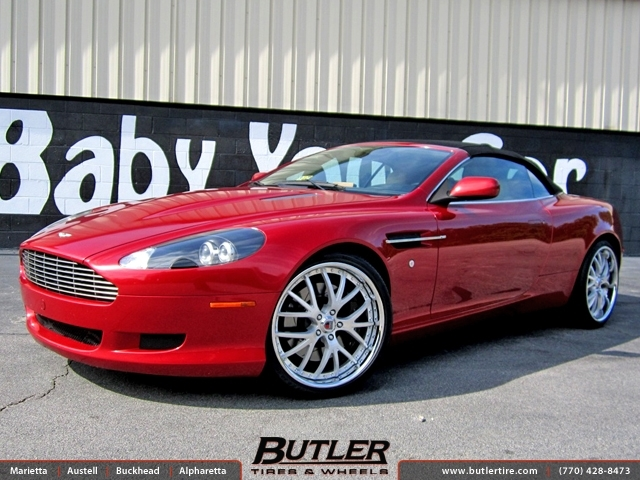 Aston Martin DB9 with 20in Kinesis K108 Wheels