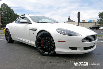 Aston Martin DB9 with 20in Niche Essen Wheels