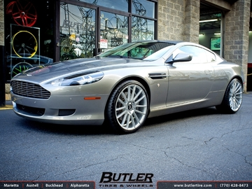 Aston Martin DB9 with 20in Savini BM9 Wheels