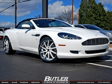 Aston Martin DB9 with 20in Savini SV37s Wheels
