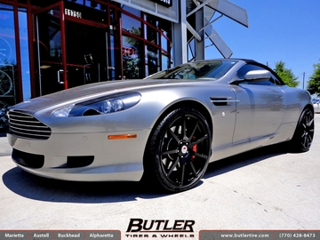 Aston Martin DB9 with 20in TSW Interlagos Wheels