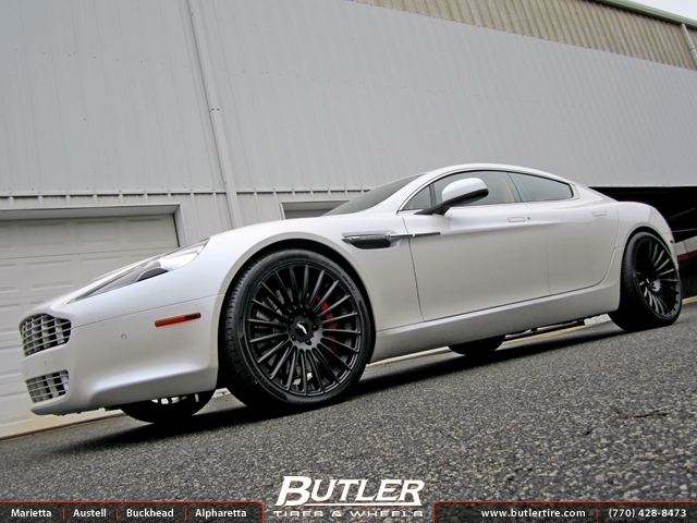 Aston Martin Rapide with 21in Niche Stance Wheels
