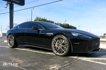 Aston Martin Rapide with 22in Avant Garde AGL-Vanquish Wheels
