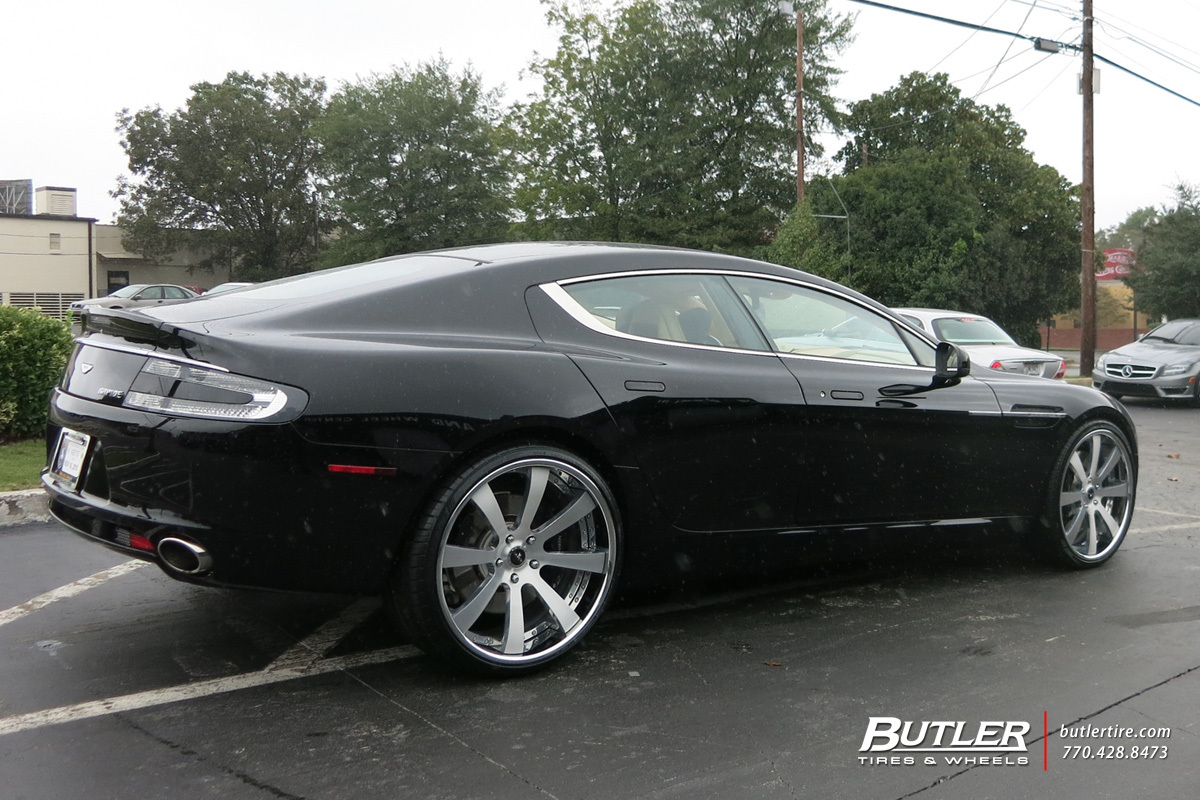 Aston Martin Rapide with 22in Savini SV28c Wheels