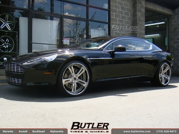Aston Martin Rapide with 22in Savini SV32 Wheels
