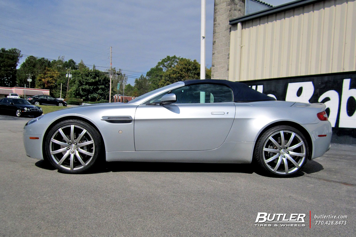 Aston Martin Vanquish with 20 Kahn RSV Wheels