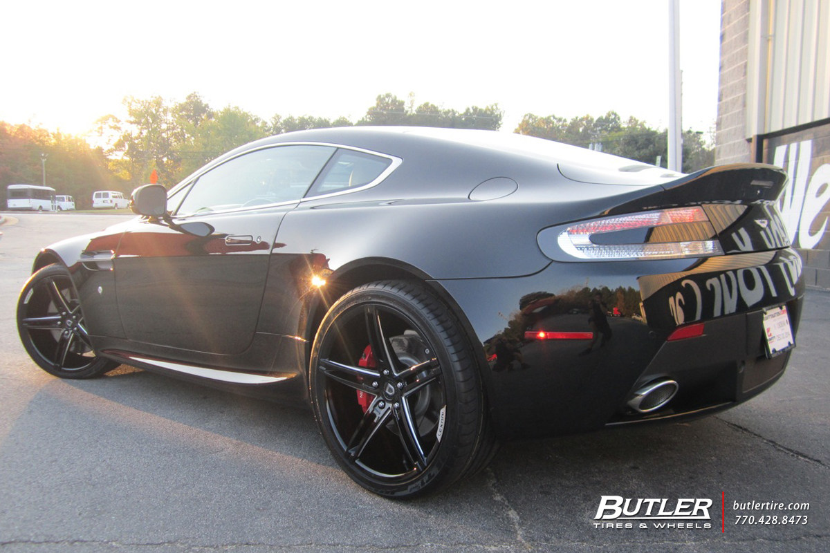 Aston Martin Vantage with 20in Lexani R-Three Wheels