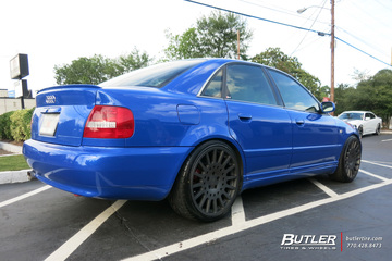 Audi A4 with 19in TSW Holeshot Wheels