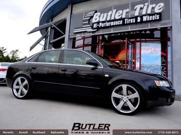 Audi A4 with 19in TSW Vortex Wheels