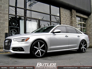 Audi A4 with 20in Lexani R-Six Wheels