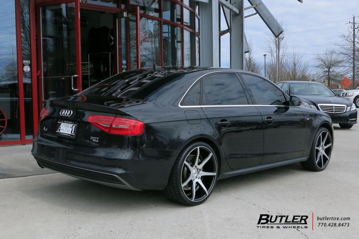 Audi A4 with 20in Savini BM10 Wheels