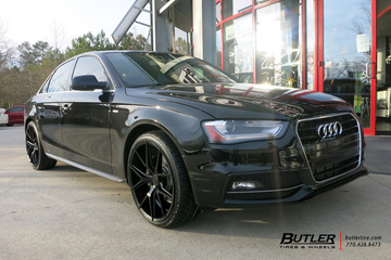 Audi A4 with 20in Verde Axis Wheels