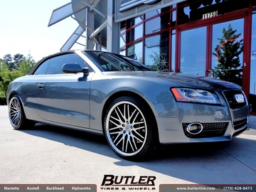 Audi A5 with 20in Lexani CVX 44 Wheels