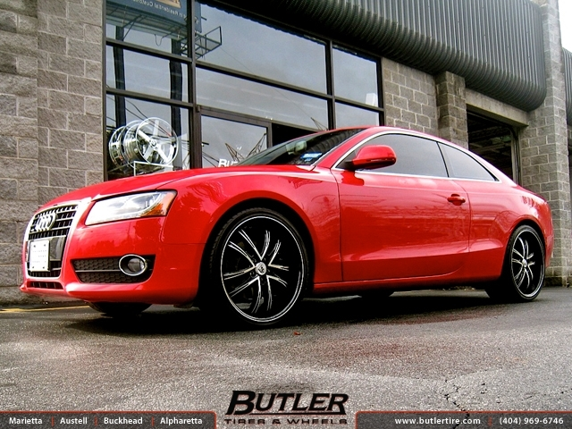 Audi A5 with 20in Lexani LSS55 Wheels