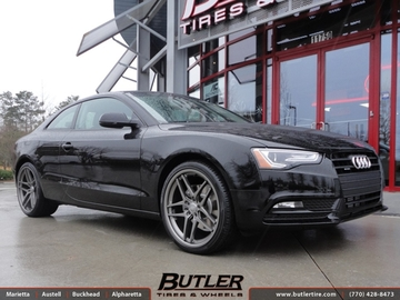 Audi A5 with 20in Savini BM7 Wheels
