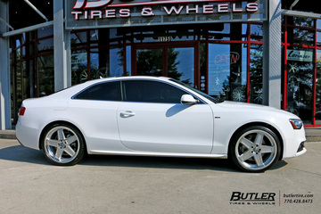 Audi A5 with 20in TSW Camber Wheels