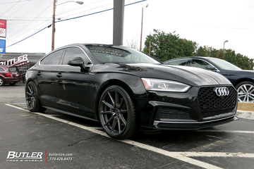 Audi A5 with 20in Vossen HF-3 Wheels