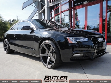 Audi A5 with 20in Vossen CV3 Wheels