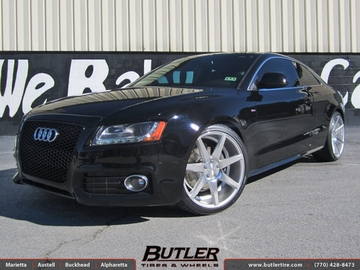 Audi A5 with 20in Vossen CV7 Wheels