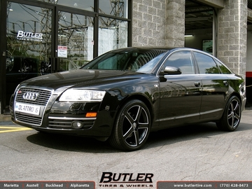 Audi A6 with 19in TSW Rivage Wheels