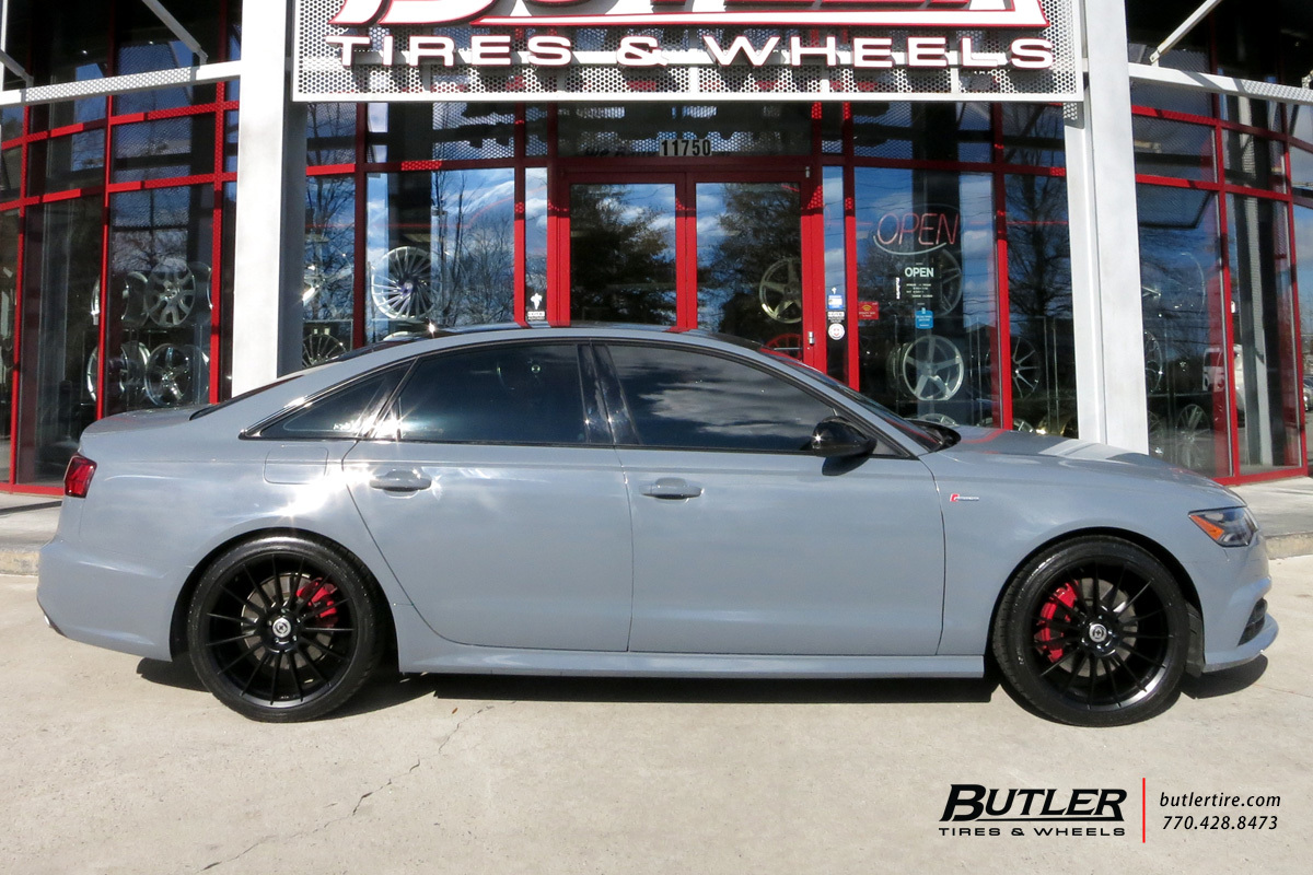 Audi A6 with 20in HRE FF15 Wheels