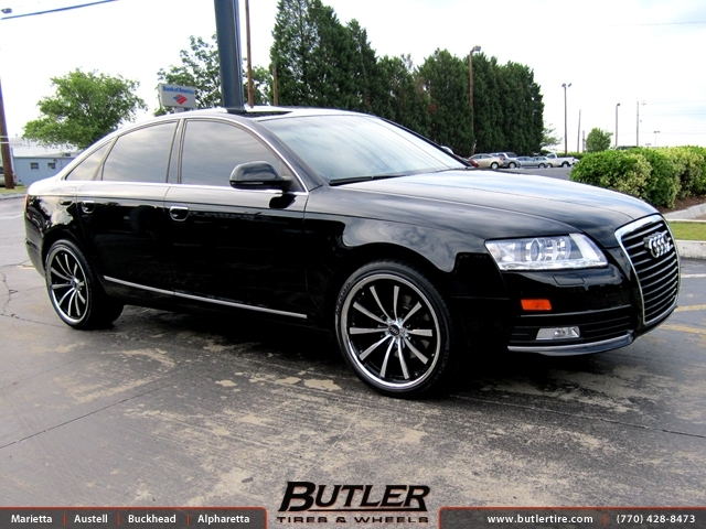 Audi A6 with 20in Lexani CVX 55 Wheels