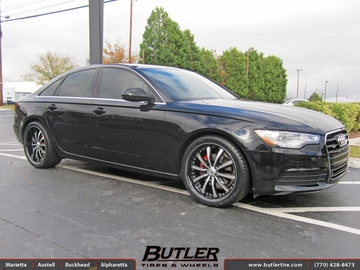 Audi A6 with 20in Lexani LSS10 Wheels