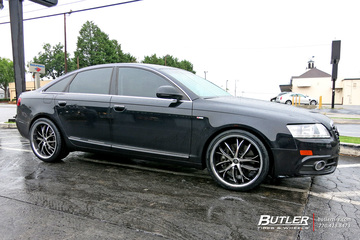 Audi A6 with 20in Lexani Polaris Wheels