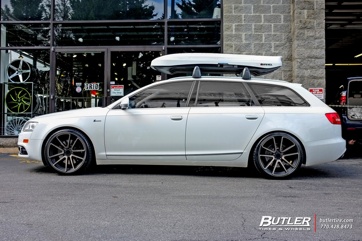 Audi A6 with 20in Rotiform SPF Wheels