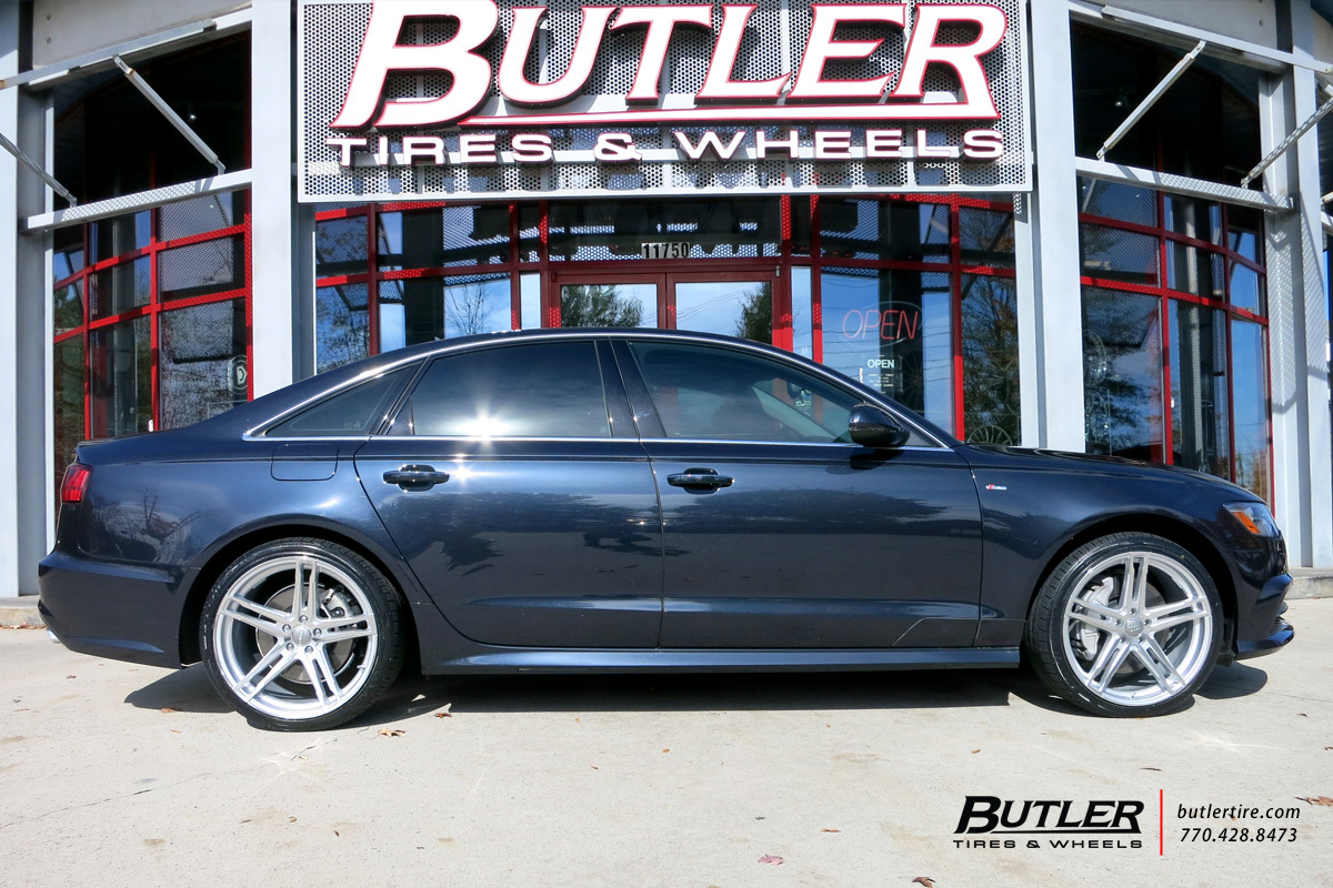 Audi A6 with 20in TSW Mechanica Wheels