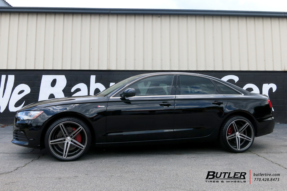 Audi A6 with 20in Vossen CV5 Wheels