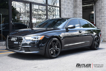 Audi A6 with 20in Vossen HF-1 Wheels