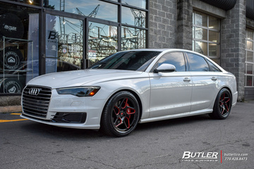 Audi A6 with 20in Vossen LC-104T Wheels