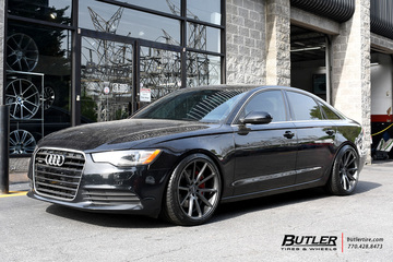 Audi A6 with 20in Vossen VFS1 Wheels