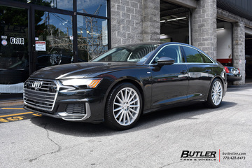 Audi A6 with 20in Vossen VFS2 Wheels